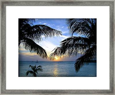Another Key West Sunset Framed Print by Joan  Minchak