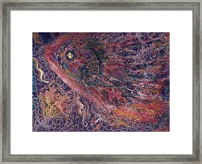 Another Look At Fish Of Many Colors  Framed Print by Anne-Elizabeth Whiteway