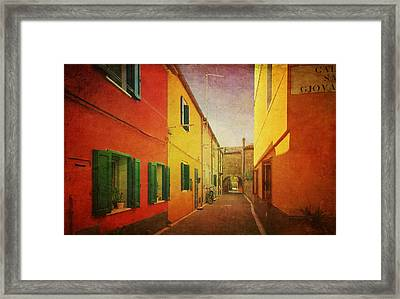 Another Morning In Malamocco Framed Print by Anne Kotan