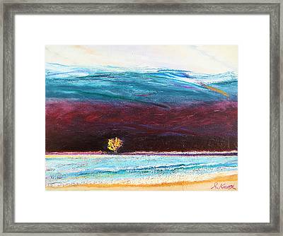 Another Odd Day At The Beach Framed Print by Richard Knox