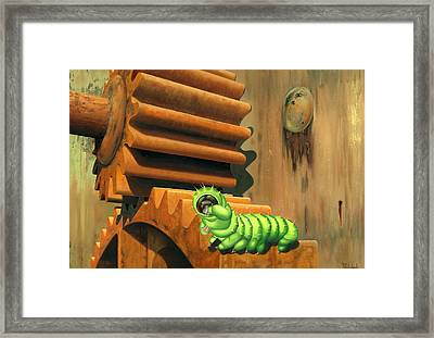 Another One Bites The Dust. Framed Print by Patricia Van Lubeck