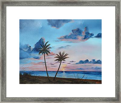 Another Paradise Sunset Framed Print