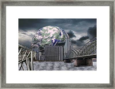 Another Place In Another World Framed Print by Angel Jesus De la Fuente