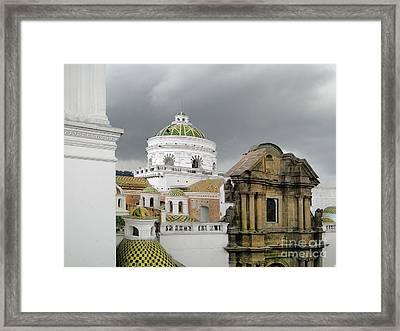 Another Quito Ecuador View Framed Print by Al Bourassa
