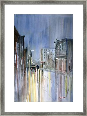 Another Rainy Night Framed Print by Ryan Radke