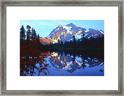 Another Shuksan Reflection Framed Print