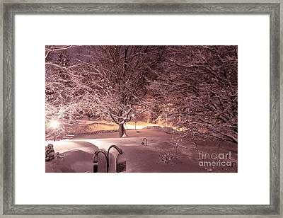 Another Snow Storm Framed Print