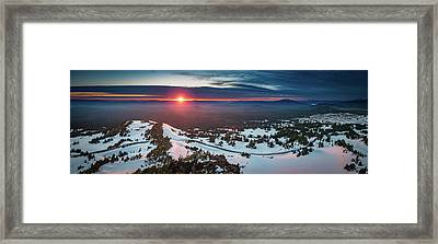 Framed Print featuring the photograph Another Sunset At Crater Lake by William Lee