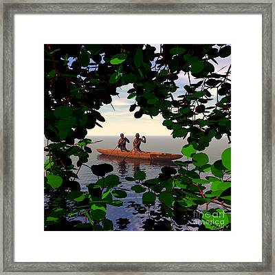 A Glimpse Into Another World Framed Print