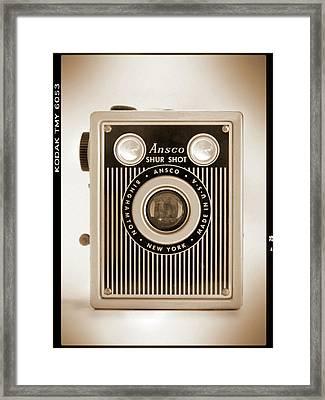 Ansco Shur Shot Framed Print