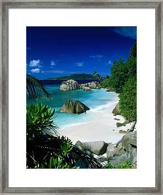Anse Patatran La Digue Seychelles Framed Print