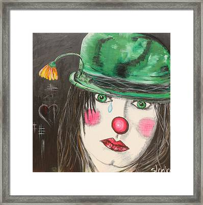 Ansichten Eines Clowns Framed Print by Sladjana Lazarevic