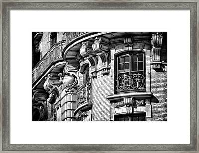 Ansonia Building Detail 36 Framed Print by Val Black Russian Tourchin