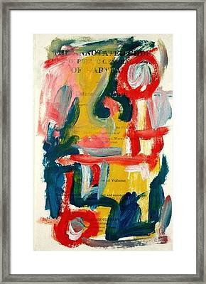 Anstract On Paper No. 18 Framed Print by Michael Henderson