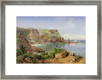 Ansty's Cove Framed Print by John William Salter