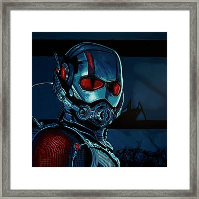 Ant Man Painting Framed Print