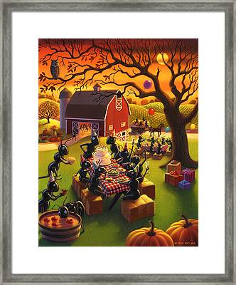 Ant Party Framed Print by Robin Moline