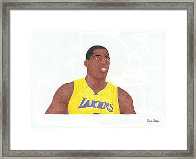 Antawn Jamison Framed Print by Toni Jaso