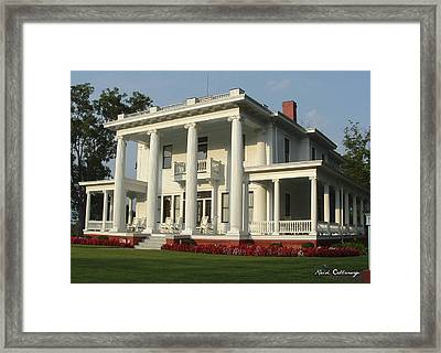 Antebellum Home Gone With The Wind Style Southern Living Home Framed Print by Reid Callaway