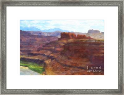 Antediluvian Overlook Framed Print by Bonnie Gordon Ferris
