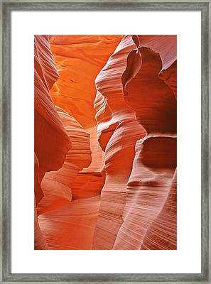 Antelope Canyon - Nature's Art Gallery Framed Print by Christine Till