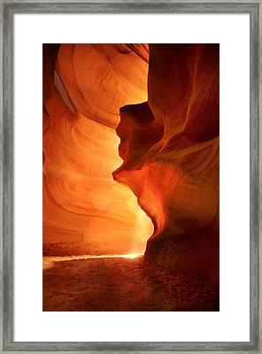 Antelope Canyon - Stone Face Framed Print by Jacek Joniec