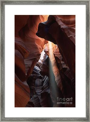 Antelope Canyon At Noon Framed Print