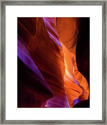 Antelope Canyon Color Framed Print