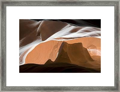 Antelope Canyon Desert Abstract Framed Print