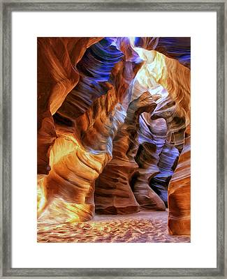 Antelope Canyon Framed Print by Dominic Piperata
