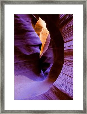 Antelope Canyon Eight Framed Print by Paul Basile