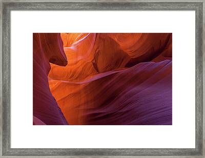 Antelope Canyon Fire Framed Print