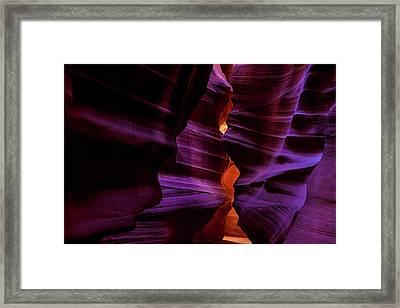 Antelope Canyon Glow Framed Print