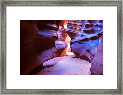 Antelope Canyon Framed Print by Kobby Dagan