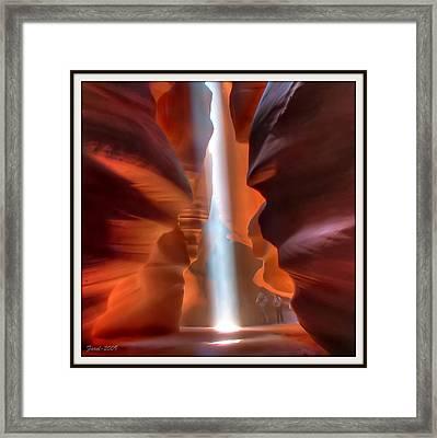 Antelope Canyon Light Framed Print