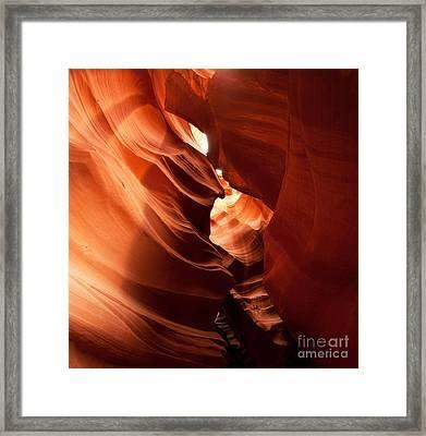 Antelope Canyon Framed Print by Matt Tilghman