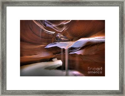 Antelope Canyon Shifting Sands Framed Print by Martin Konopacki