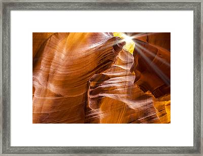 Antelope Canyon Sunrays Framed Print by Melanie Viola