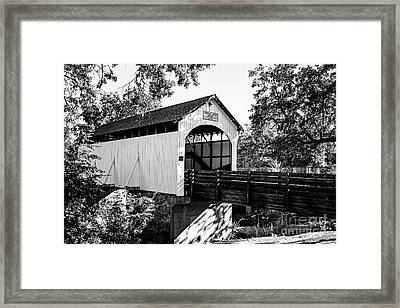 Antelope Creek Bridge - Bw Framed Print
