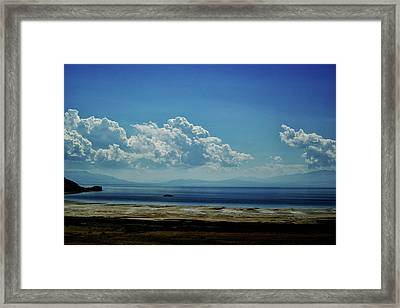 Framed Print featuring the photograph Antelope Island, Utah by Cynthia Powell