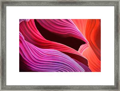 Antelope Waves Framed Print by Anni Adkins