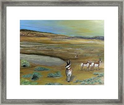 Antelopes Framed Print