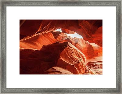 Antelope Canyon, Howling Wolf Framed Print by Martin Williams