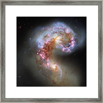 Framed Print featuring the photograph Antennae Galaxies Reloaded by Nasa
