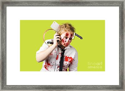 Anthem Of The Zombie Apocalypse Framed Print by Jorgo Photography - Wall Art Gallery