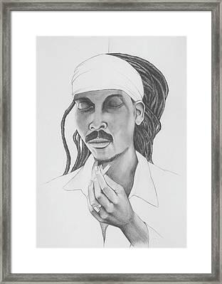 Anthony B - Give Thanks Framed Print