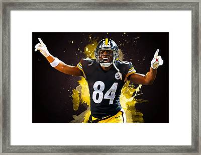 Antonio Brown Framed Print by Semih Yurdabak