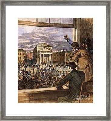 Anthony Burns Trial, 1854 Framed Print by Granger