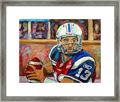 Anthony Calvillo Framed Print by Carole Spandau
