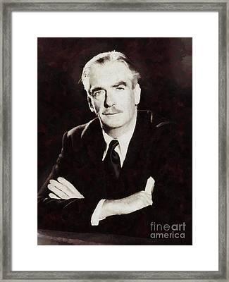 Anthony Eden, Prime Minister Of United Kingdom By Sarah Kirk Framed Print